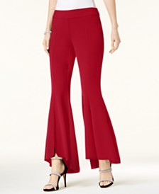 I.N.C. Curvy Flared High-Low Pants, Created for Macy's