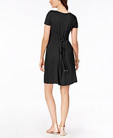 Thalia Sodi Corset-Back Dress, Created for Macy's