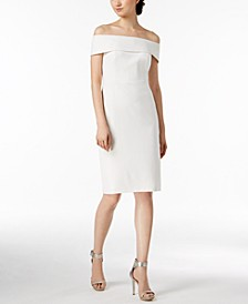 Petite Off-The-Shoulder Sheath Dress