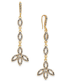 I.N.C. Gold-Tone Pavé Linear Drop Earrings, Created for Macy's