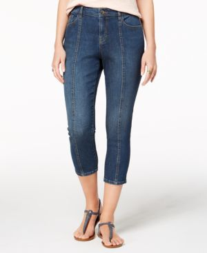 Style & Co Petite Front-Seam Capri Jeans, Created for Macy's 6826761