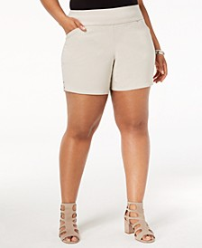 INC Plus Size Pull-On Shorts, Created for Macy's