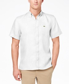 Lacoste Men's Linen Pocket Shirt