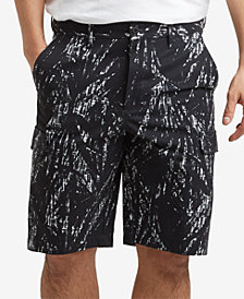 "Kenneth Cole New York Men's Stretch Printed Mesh Tech Cargo  9"" Shorts"