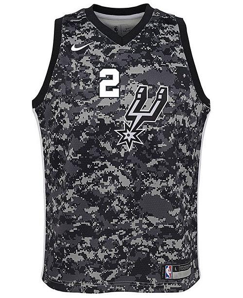 f22abdd0 Nike Kawhi Leonard San Antonio Spurs City Edition Swingman Jersey, Big Boys  (8- ...