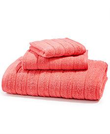 LAST ACT! Creative Home Ideas Cotton Zero Twist Ribbed Solid Bath Towel