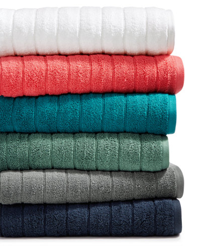 Creative Home Ideas Cotton Zero Twist Ribbed Solid Towel Collection