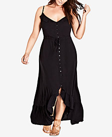 City Chic Trendy Plus Size Ruffled Maxi Dress