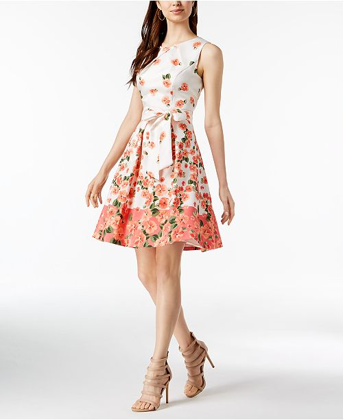 e965f3b4595c Jessica Howard Floral-Print Fit & Flare Dress & Reviews - Dresses ...