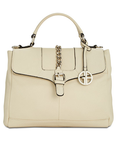 Giani Bernini Belted Top-Handle Leather Crossbody, Created for Macy's