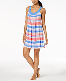 Alfani Pleated Printed Nightgown, Created for Macy's