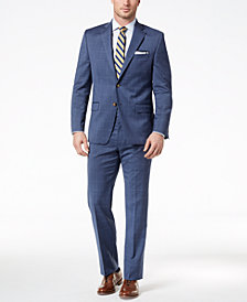 Lauren Ralph Lauren Men's Classic-Fit Ultraflex Stretch Light Blue Windowpane Suit