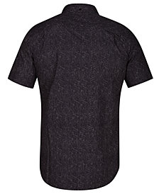 Hurley Men's Crossroads Geo-Print Pocket Shirt