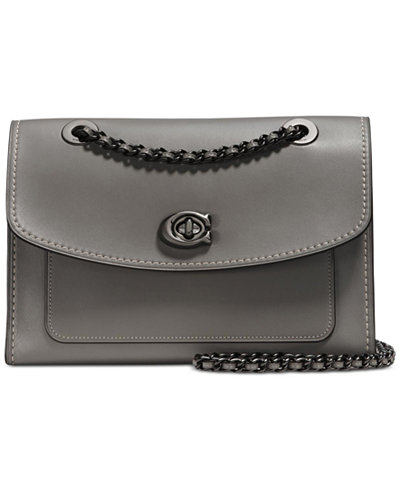 COACH Mixed Leather Parker Small Shoulder Bag