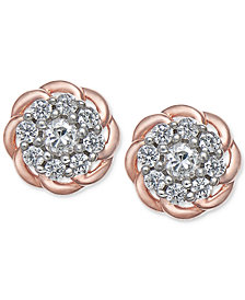 Diamond Floral Cluster Stud Earrings (1/4 ct. t.w.)