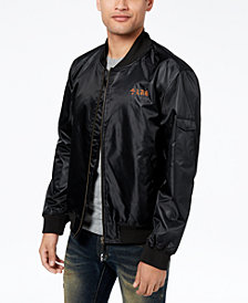 LRG Men's Aloha Embroidered-Logo Bomber Jacket