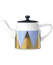 Luca Blue Azzurro Angles Teapot