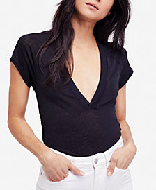 Free People Clementine Plunging V-Neck T-Shirt