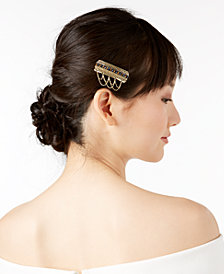 I.N.C. Gold-Tone Stone Multi-Chain Hair Clip, Created for Macy's
