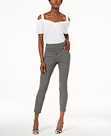 I.N.C. Cold-Shoulder Top & Pull-On Ankle Skinny Pants, Created for Macy's