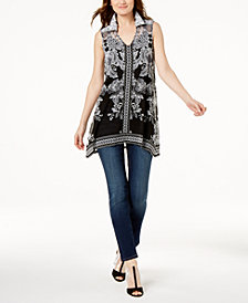 I.N.C. Printed Tunic & Skinny Jeans, Created for Macy's