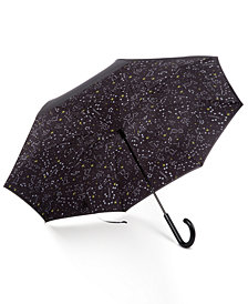 Totes Auto Reverse Close Stick Umbrella