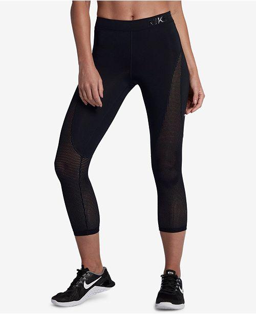 ca07d6b4ed9ce9 Nike Pro Hypercool Mesh-Inset Capri Leggings & Reviews - Pants ...
