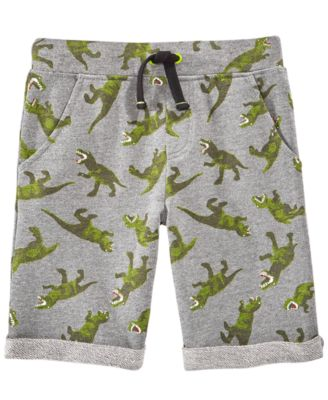 Dino-Print Knit Shorts, Little Boy, Created for Macy's