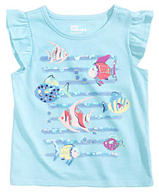 Epic Threads Sequin Fish-Print Flutter T-Shirt, Little Girls, Created for Macy's
