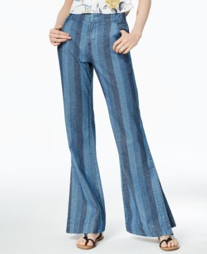Bar Iii Cotton Striped Wide-Leg Jeans, Created for Macy's 5736410