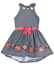 Rare Editions Gingham Halter Dress, Little Girls