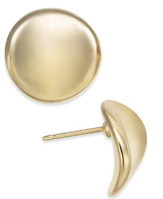 Macy S Dapped Stud In 14k Gold Earrings Jewelry Watches Macy S