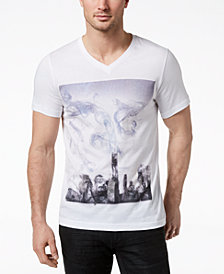 I.N.C. Men's Graphic-Print V-neck T-Shirt, Created for Macy's