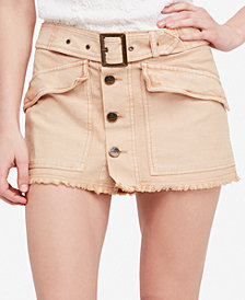 Free People Hangin On Tight Cotton Mini Skirt