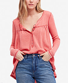 Free People Kai Long-Sleeve Henley Top