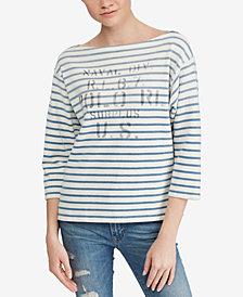Polo Ralph Lauren Striped Boatneck Cotton Shirt