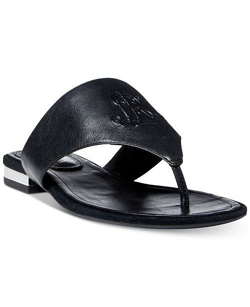 348d3b40e Lauren Ralph Lauren Deandra Flat Thong Sandals   Reviews - Sandals ...