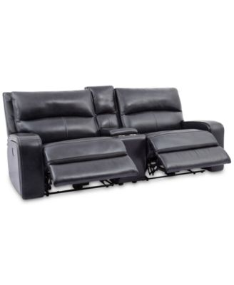"CLOSEOUT! Brant 93"" 3-Pc. Leather Power Reclining Sofa With 2 Power Recliners, Power Headrests, Console And USB Power Outlet"