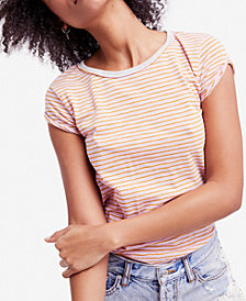 Free People Clare Striped T-Shirt
