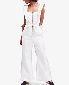Free People Sun Valley Cotton Denim Jumpsuit