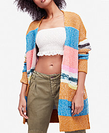 Free People Think Twice Printed Cardigan
