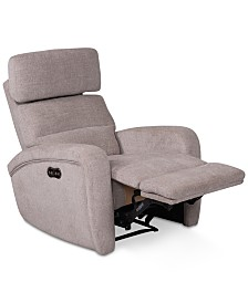 Stellarae Fabric Power Recliner With Power Headrest And USB Power Outlet, Created for Macy's
