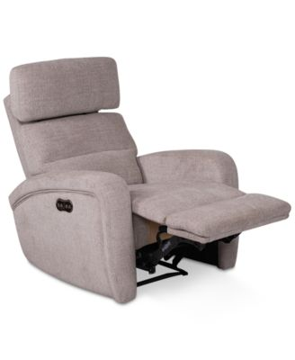 Stellarae Fabric Power Recliner With Power Headrest And USB Power Outlet,  Created For Macyu0027s