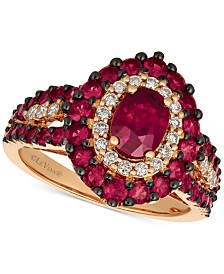 Le Vian Certified Passion Ruby™ (2 ct. t.w.) & Diamond (1/4 ct. t.w.) Ring in 14k Rose Gold