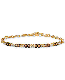Le Vian® Chocolate & Nude™ Diamond Link Bracelet (1-1/5 ct. t.w.) in 14k Gold