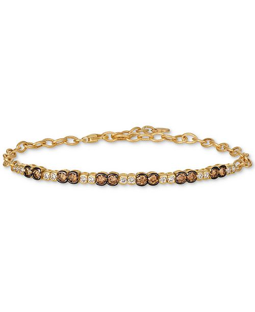 Le Vian Chocolate & Nude™ Diamond Link Bracelet (1-1/5 ct. t.w.) in 14k Gold