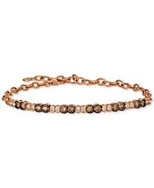 Strawberry & Nude™ Diamond Link Bracelet (1-1/5 ct. t.w.) in 14k Rose Gold