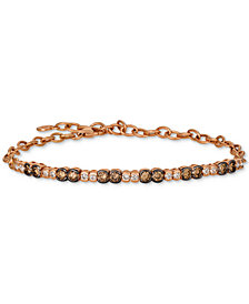 Le Vian® Strawberry & Nude™ Diamond Link Bracelet (1-1/5 ct. t.w.) in 14k Rose Gold