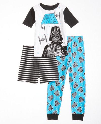 Star Wars 3-Pc. Darth Vader Pajama Set, Little Boys & Big Boys, Created for Macy's