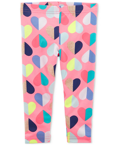 Carter's Heart-Print Leggings, Little & Big Girls